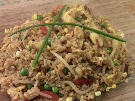 chicken stir fry with brown rice 2